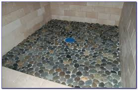 pebble shower floor grey pebbles medium 12 x 12 in large