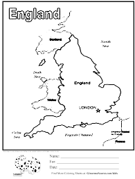 Britain Blank Map by Coloring Pages Uk