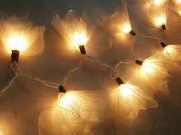 amazon com natural cream flower leaf string lights 9 foot long ul