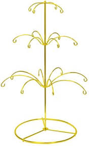 ornament holder ornament display stand holds 18 ornaments bright gold