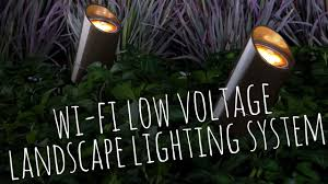 how to install wi fi low voltage landscape lighting youtube