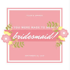 invitations for bridesmaids customize 42 be my bridesmaid invitation templates online canva