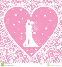 Groom And Groom Wedding Card Kissing Groom And Bride On Lace Background Royalty Free Stock