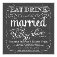 eat drink and be married invitations eat drink and be married invitations announcements zazzle
