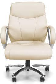 Office Chair Front Cream Padded Pu Leather Executive Swivel Office Chair Buy High