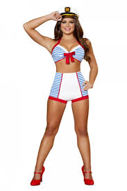 Sailors Halloween Costumes 3 Pc Playful Pinup Sailor Costume Amiclubwear Costume