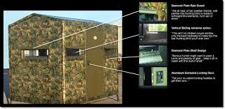 Sliding Deer Blind Windows The 6 X 8 Fiberglass Deer Blind By Boss Game Systems Is The Ultimate