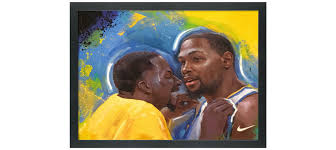 Meme Painting - nike kevin durant draymond green meme painting www space150 com