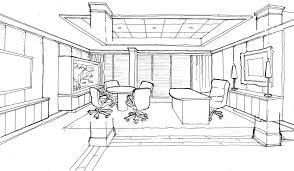 unique interior design office sketches the modern on ideas