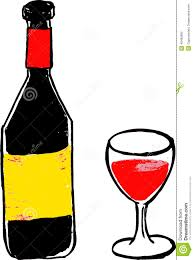 hand draw sketch wine bottle and glass stock vector image 40480992