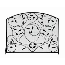 mesmerizing single panel curved black fireplace screen cool panel