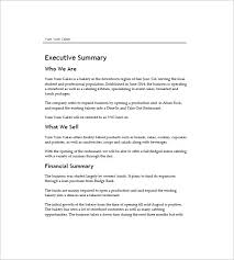 bakery business plan free small business plan template business