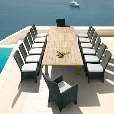 contemporary and natural apex extending table design for outdoor