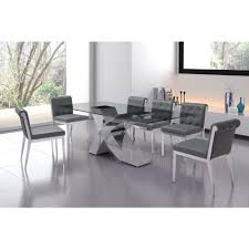 chrome dining room sets zuo wave chrome dining table 100350 the home depot