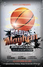 the madness begins free 5 basketball flyers in psd for the big