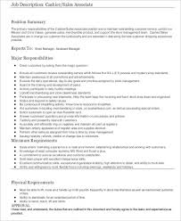 Cashier Job Responsibilities For Resume by Cashier Resume Sample 8 Examples In Word Pdf