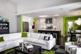 Color Schemes For Modern Kitchen And Family Room With White - Color schemes for family room