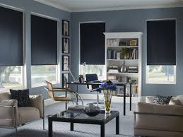 interior design black roller shades blackout blinds modern black