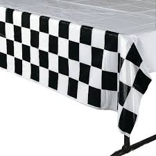 White Table Cloths Amazon Com 4 Pack Black U0026 White Checkered Tablecloth Race Party
