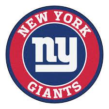 new york giants team emblem throw rug giants team throw rugs