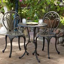 dining room miraculous cast aluminum outdoor bistro set patio