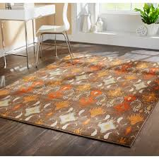 Orange Area Rugs Rugs Ginsberg Light Gray And Burnt Orange Area Rug For Living