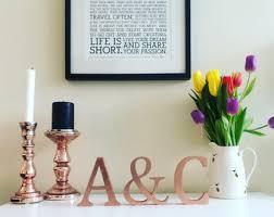 Home Letters Decoration Copper Letters Etsy