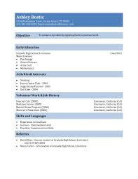 Job Resume For First Job by Cv Template Free First Job