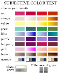 color difference test subjective color test see which season you belong according to the