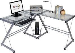 Ultra Modern Desks by Amazon Com Onespace 50 Jn110400 Ultramodern Glass L Shape Desk