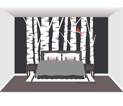 Wall Mural White Birch Trees Trees Nature