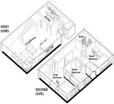 two apartment floor plans units for families housing