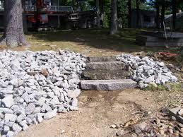 Down To Earth Landscaping by Down To Earth Landscaping Granite Steps With Rip Rap Down To