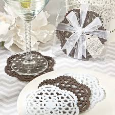 wedding coasters favors lace like felt coaster sets vintage wedding favors