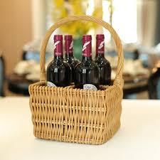 Wicker Basket For Wine Bottles Wicker Basket For Wine Bottles