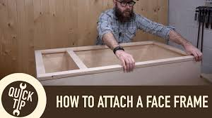 beaded face frame cabinet construction how to make and attach a face frame youtube