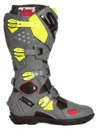 sidi motorcycle boots sidi mx boots crossfire 2 srs black grey yellow fluo 2017 maciag