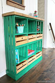 cute crate storage project perfect for the mudroom craft room or