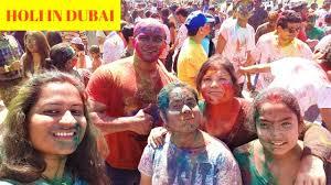 holi celebration in dubai 2017