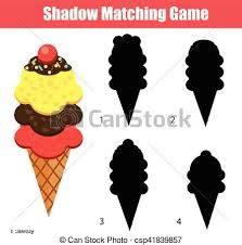 clipart vector of shadow matching game with animals theme kids