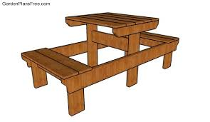 Garden Table Plans Free by Small Picnic Table Plans Free Garden Plans How To Build Garden