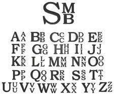 stacked monogram monogram southern smocked company