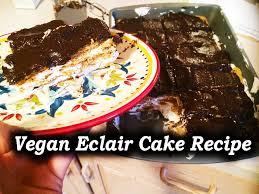 vegan chocolate eclair cake recipe youtube