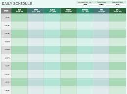 Study Schedule Template Excel Free Daily Schedule Templates For Excel Smartsheet