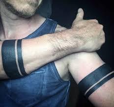 solid black armband tattoos on man tatuajes pinterest