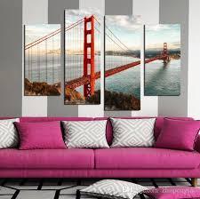 usa famous building golden gate bridge oil painting print on