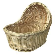 baby baskets wicker crib gift basket large 22cm x 14cm angel