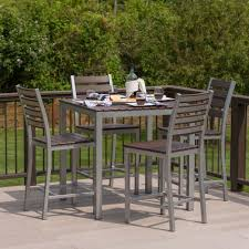 Patio High Dining Table by Loft Outdoor Modern Counter Height Dining Set 36 X 36 253 U2013 Elan
