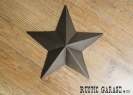 Rustic Texas Home Decor Oil Rubbed Bronze Handpainted Cast Iron Texas Star Wall