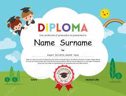 diplomas de primaria descargar diplomas de primaria fondo de certificado de diploma de niños de preescolar primaria